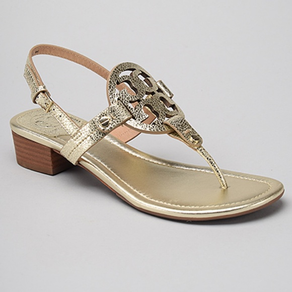 ab3b10942dfcc Tory Burch Miller 30mm Sandal in Spark Gold. NWT